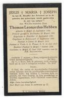 Meijel (Nl) Doodsprentje Thomas Leonardus Hebben; Priester,kapelaan,pastoor 1925 - Godsdienst & Esoterisme