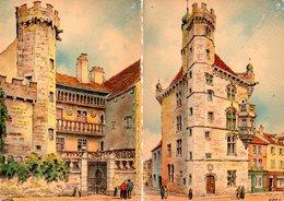Illustrateur : Barday : Lot De 4 Cartes Barre-Dayez De Luxeuil Les Bains : 2290 A, B,C,D, De 1944 - Barday