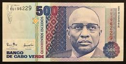 Capo Verde Cabo VERDE 500 ESCUDOS 1989. About UNC. Pick#59a Lotto.3044 - Cap Verde