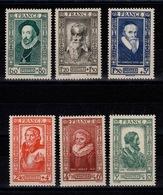 YV 587 à 592 N** Celebrites 1943 Cote 14 Euros - France