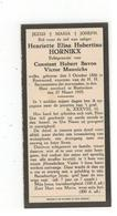 Roermond (Nl) Geboren Doodsprentje Henriette Elisa Hubertina HORNIKX 1925 Amsterdam - Godsdienst & Esoterisme