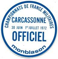 Autocollant CHAMPIONNAT DE FRANCE MILITAIRE CARCASSONNE - Aufkleber