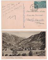 1947 - TIMBRE N° 110 OBL. CAD ANDORRE LA VIEILLE Sur CARTE CONCORDANTE Avec VUE SUR LA VILLE - Lettres & Documents
