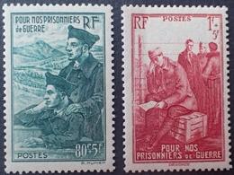DF40266/988 - 1941 -  AU PROFIT DES PRISONNIERS DE GUERRE - N°474 à 475 NEUFS** - France