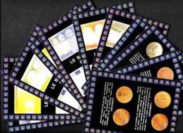 [MD4099] CPM - SERIE DI 11 CARTOLINE - EURO BANCONOTE E MONETE - CON ANNULLO 5.11.99 - CARTOLINEA - PERFETTE - NV - Coins (pictures)