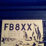 UNION FRANçAISE ARCHIPEL DES KERGUELEN 1950 RADIO FB8XX VOIR SCAN RECTO VERSO POLAIRE TAAF PINGOUIN - Terres Australes Et Antarctiques Françaises (TAAF)