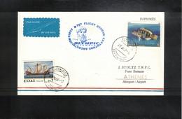 Greece 1982 Olympic Airways First Flight  Zakynthos - Athens - Greece