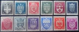 DF40266/991 - 1942 -  ARMOIRIES DE VILLES (II) - SERIE COMPLETE - N°553 à 564 NEUFS** - France