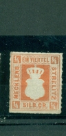 Mechlenburg - Strelitz, Wappen , Nr. 19 Ohne Gummi (*) - Mecklenburg-Strelitz