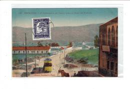 CPA LIBAN - 16. BEYROUTH - 1ERE COMPAGNIE DU TRAIN AVEC LE PONT DU FLEUVE - Lebanon