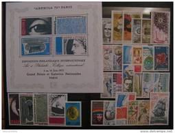 TB Année Complète 1975: Du N° 1830 Au N° 1862, Le BF 7 Au Lieu De La Série N° 1834 Au N°1837,  ( Neufs XX ). - 1970-1979
