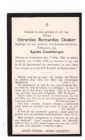 Amsterdam (Nl) Geboren Doodsprentje Gerardus Bernardus Dosker 1932 - Godsdienst & Esoterisme