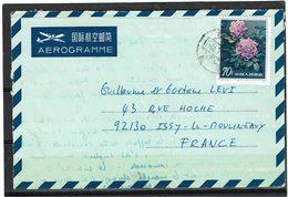 LCTN59/LE/2 - CHINE AEROGRAMME A DESTINATION DE ISSY LES MOULINEAUX JUILLET 1984 - Poste Aérienne