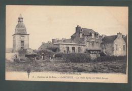 CPA - 22 - Lancieux - Eglise Et Hôtel Leroux - Lancieux