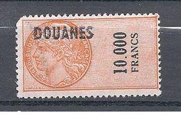 FRANCE FISCAUX DOUANES 10000 Francs  N° 51 ** à Petit Prix Car Coin Manquant Mais C'est Mon Dernier 10000...... - Revenue Stamps