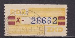 ZKD Wertstreifen Dienstmarken-B Michel Nr. 25 X - Servizio