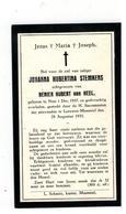 Neer Geboren (Nl)  Doodsprentje JOHANNA HUBERTINA STEMKENS  1933 Leeuwen-Maasniel - Godsdienst & Esoterisme