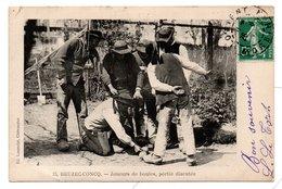 """29  BEUZEC-CONCQ  -  Joueurs De Boules, Partie Discutée - (Cachet """" Atlantic Hôtel"""", Concarneau) - Beuzec-Cap-Sizun"""