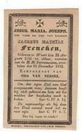 WEERT (Nl)  Doodsprentje JACOBUS MATHIAS Frencken ECHTGENOOT VAN ODA VAN EERSEL 1832 - Godsdienst & Esoterisme