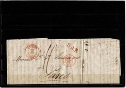 LCTN59/LE/2 - BELGIQUE 3 LETTRES COMMERCIALES TAXES DIVERSES - 1830-1849 (Onafhankelijk België)