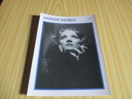 Fiche Cinéma - Marlène Dietrich. - Fanartikel