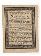 Beek (Nl)  Doodsprentje JACOBUS RENERUS Schoolmeesters; Burgemeester Der Gemeente Beeck 1832 - Godsdienst & Esoterisme