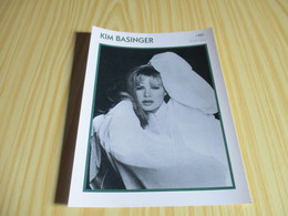 Fiche Cinéma - Kim Basinger. - Fanartikel