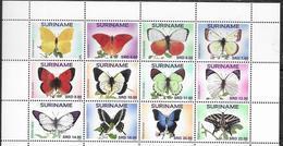 SURINAME, 2019, MNH, BUTTERFLIES,12v,  HIGH FV - Schmetterlinge