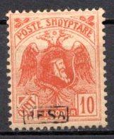 ALBANIE (Principauté) - 1921 - N° 116 - 10 Q. Rouge - (Effigie De Scander-Beg Avec BESA En Surcharge) - Albania