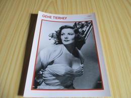 Fiche Cinéma - Gene Tierney. - Fanartikel