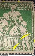 "Errors  Roumanie 1921 Social Assistance  10b Green With Broken Letter ""ia"" Romania - Variedades Y Curiosidades"