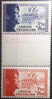 FRANCE - 1942  Yv N°F565  POUR LA LÉGION TRICOLORE Milieux  Impr. En Relief MH Côte 175 Euros - France