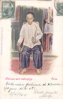CPA INDONESIE - JAVA JAWA DJAWA - Chinees Met Waterpijp Illustrateur Van Der Heyden J. En 1904 - Indonesië