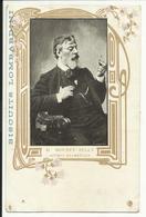"""* LA GARENNE COLOMBES , Carte Publicitaire  Des """" BISCUITS LOMBARDINI """" , M. MOUNET - SULLY Artiste Dramatique - Théâtre"""