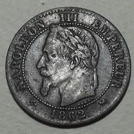 1862 - France - DEUX CENTIMES, NAPOLEON III, Tête Laurée, (K), Bordeaux, KM 796.6, Gad 104 - B. 2 Centimes