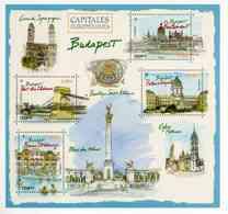 """ENTIER POSTAL De 2019 Sur CP Avec Timbre Et Illust. """"Capitales Européennes : BUDAPEST - Bains Széchenyi"""" - Entiers Postaux"""
