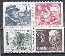 Schweden 1980 - Nobelpreistraeger, MI-Nr. 1129/32, MNH** - Sweden
