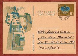P 77 Krone Abb Alter Dorfteil Vaduz + ZF, Nach Bensberg 1974? (83111) - Ganzsachen
