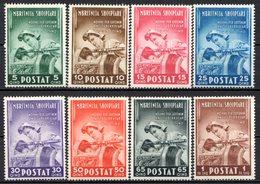 ALBANIE (Administration Italienne) - 1943 - N° 281 à 288 - (Lot De 8 Valeurs) - (Surtaxe Au Profit Des Tuberculeux) - Albanien