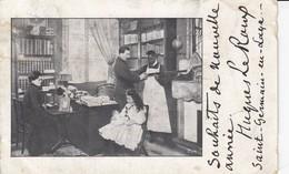 78 - St-Germain-en-Laye - Souhaits De Nouvelle Année - Hugues Le Roux - Une Bien Belle Famille Au Bureau - St. Germain En Laye