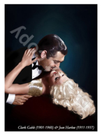 Ukraine Postcard   Jean Harlow & Clark Gable   American Film Actors   Cinema - Schauspieler