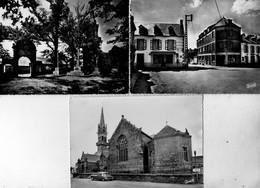 Lot De 3 Cpm De Plomodiern - L'église - La Chapelle Du Ménez-Hom - La Place Et Les Hôtels - - Plomodiern