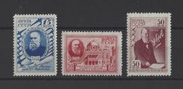 RUSSIE.  YT  N° 831/833  Neuf **  1941 - Unused Stamps
