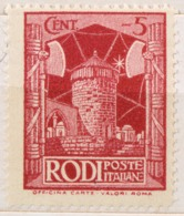 DE044 - COLONIE 1932 - EGEO - PITTORICA 2°  CENT 5  - MH * - Ägäis