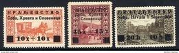 YUGOSLAVIA 1918 War Invalids Overprint Set LHM / *.  Michel 30-32 - Unused Stamps