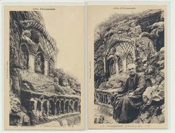 Lot 2 Cartes Rotheneuf - L'ermite Et Les Rochers Sculptés... - Rotheneuf