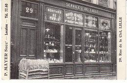 P. Mayer ; Magasin De Services De Table , 1930 , 2 Scans - Lille