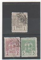 MAROC POSTES CHERIFIENNES 1913 YT N° 9-10-11 Oblitérés - Lokalausgaben