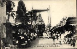 Cp Puducherry Pondicherry Indien, Un Char Indien - India