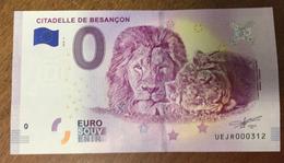 25 BESANÇON CITADELLE LIONS BILLET 0 EURO SOUVENIR 2018 BANKNOTE BANK NOTE 0 EURO SCHEIN PAPER MONEY - Unclassified
